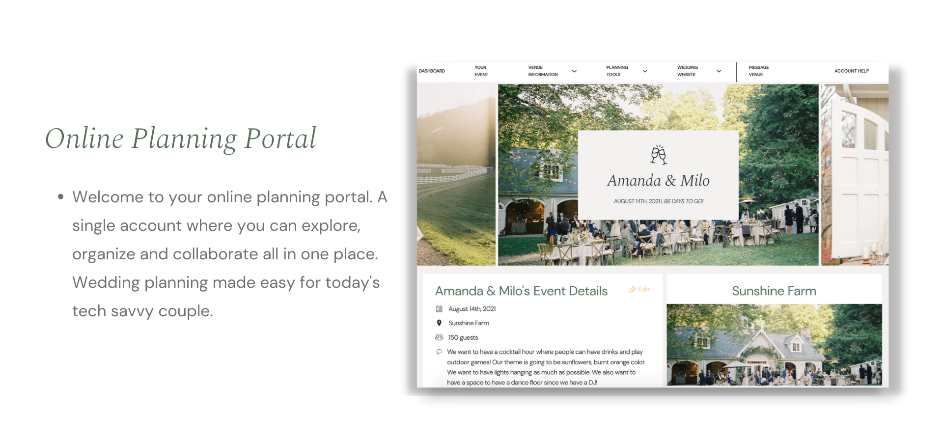 Online Planning Portal